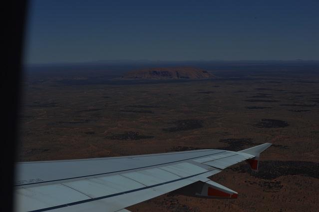 uluru from the plane