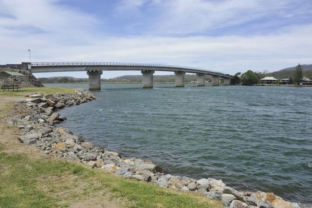 near river