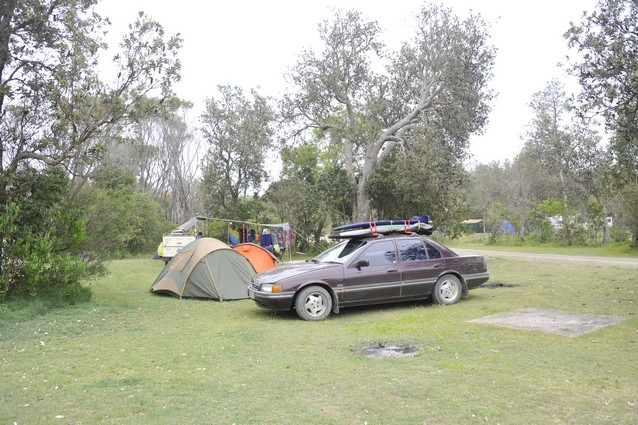 car and tent